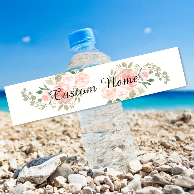 24 pçs flores oração festa de casamento aniversário confissão viagem vela criança adulto garrafa de água presente etiqueta personalizada 1