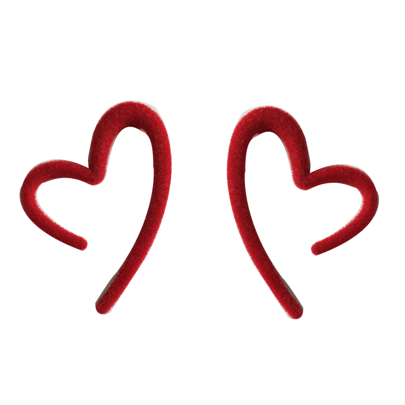 S925 needle Personality Jewelry Earrings Sweet Korean Fashion Women Jewelry Red Heart Earrings For Girl Student Party Gifts