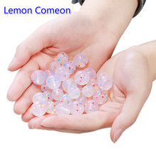 10pcs Food Grade Colorful Round Silicone Loose Beads 9mm 12mm 15mm Chewable Teething Toy DIY Pacifie