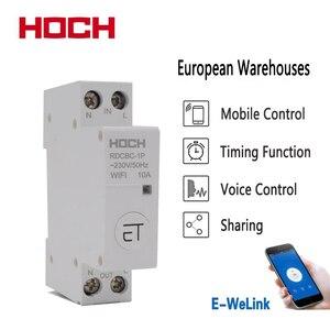 Image 1 - HOCH RDCBC 1P не WIFI автоматический выключатель Пульт дистанционного управления eWeLink таймер умный дом din рейку переключатель завод
