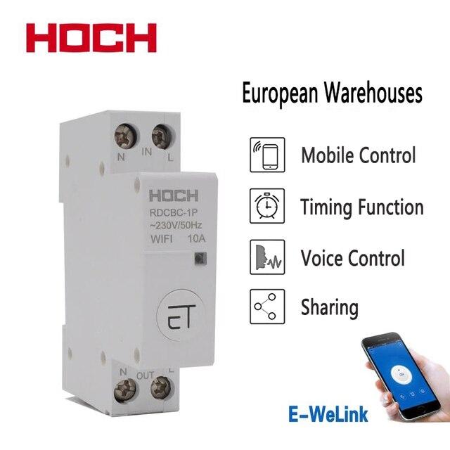 HOCH RDCBC 1P не WIFI автоматический выключатель Пульт дистанционного управления eWeLink таймер умный дом din рейку переключатель завод