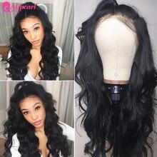13x6 Синтетические волосы на кружеве человеческие волосы парики предварительно вырезанные 150% 180% бразильские волнистые волосы 370 Синтетические волосы на кружеве al парики для Для женщин Remy AliPearl волосы парик