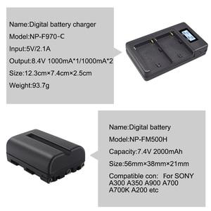 Image 5 - PALO 2000 mAh NP FM500H NP FM500H NPFM500H charger For Sony Camera battery A57 A58 A65 A77 A99 A550 A560 A580 battery l10