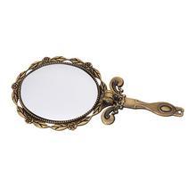 DIY Metal espejos mujer Handheld mango largo maquillaje espejos Mini Vintage Decoración