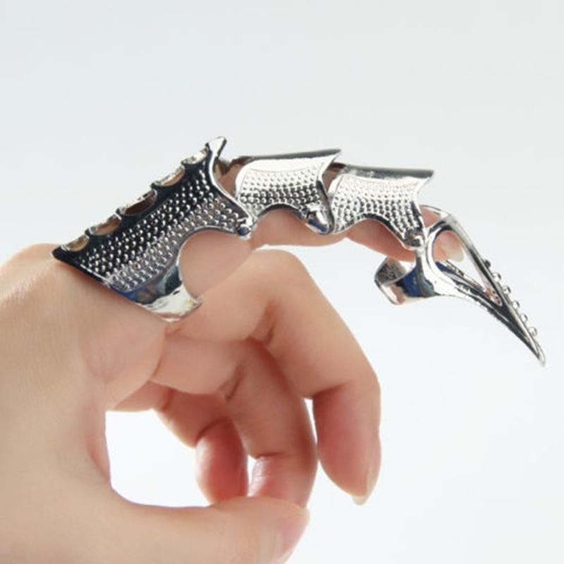 Imixlot панк кольцо рок прокрутки армированное Металл полный коготь на палец кольца