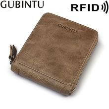 Мужской кошелек gubintu из кожи с натуральным лицевым покрытием