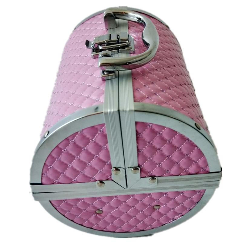 Купить с кэшбэком 2019 Pillow design Aluminium alloy Make up Box Makeup Case Beauty Case Cosmetic box  Multi Tiers Lockable Jewelry Box