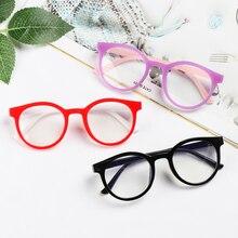 Kids Glasses Round Anti-blue Light Children Boys Girls Computer  Glasses Protection Eyeglasses Ultra Light Frame