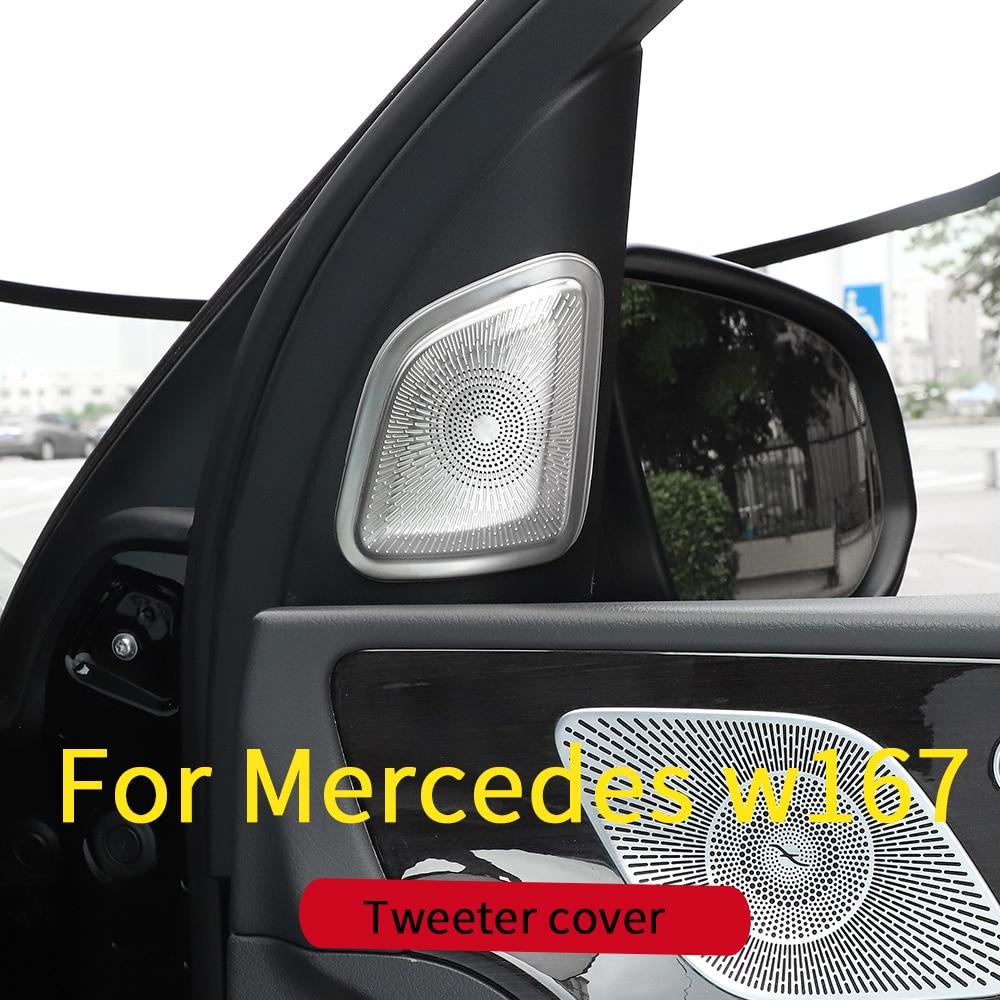 Front Speaker Cover Trim For Mercedes GLE W167 350 450 500e Gls W167 450 500 550  X167 Interior Decoration Accessories