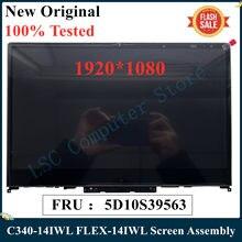 LSC-montaje de pantalla Original para Lenovo Ideapad C340-14IWL, 14, 14IML, FLEX-14IWL, 14, FRU, 5D10S39563, probado al 100%, nuevo