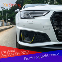 Front Fog Car ABS Frame Trim Chrome Exterior Decoration Car Style 2Pcs/Set For Audi A4 / A4L / S4 2019