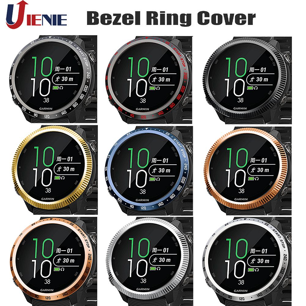 Watch Bezel Ring Frame For Garmin Forerunner 645 Music Bezel Styling Case Cover Stainless Steel Protection Shell For 645