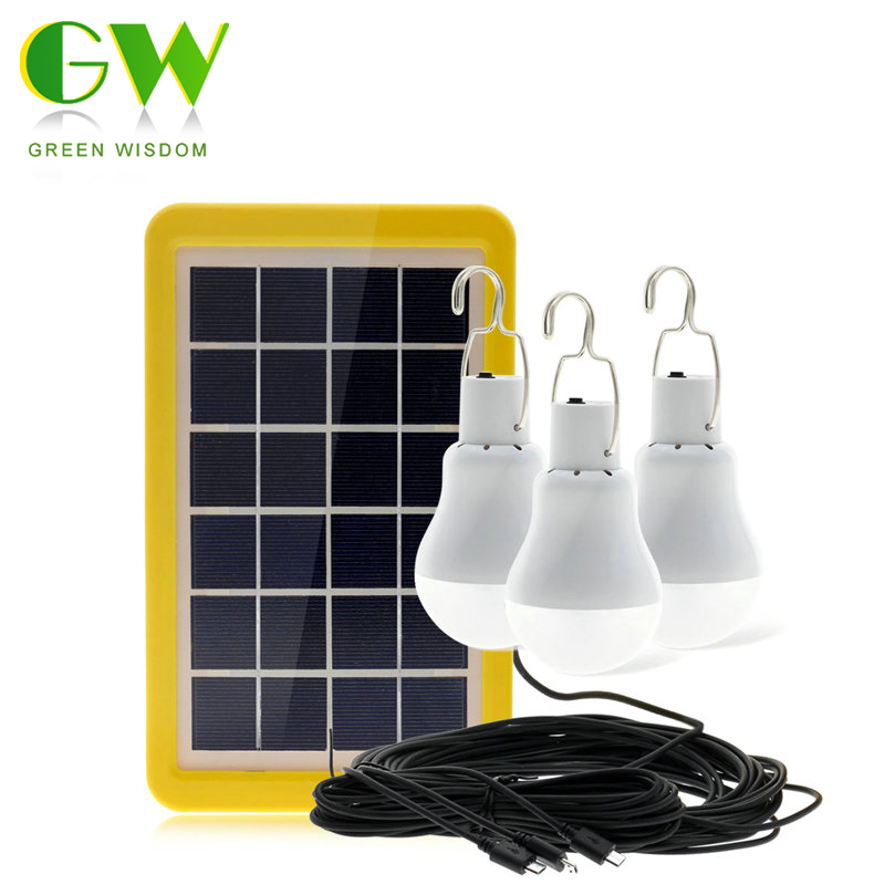 Portable Solar Lamp 12W 15W LED Solar Light Bulb Solar Energy Panel Powered Emergency Tent Lights for Outdoor Camping Fishing