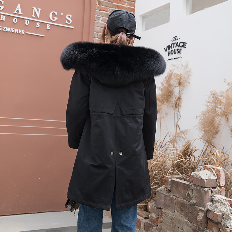 Rex Rabbit Clothes 2020 Real Fur Parka Warm Winter Coat Women Manteau Femme 1906 YY1088