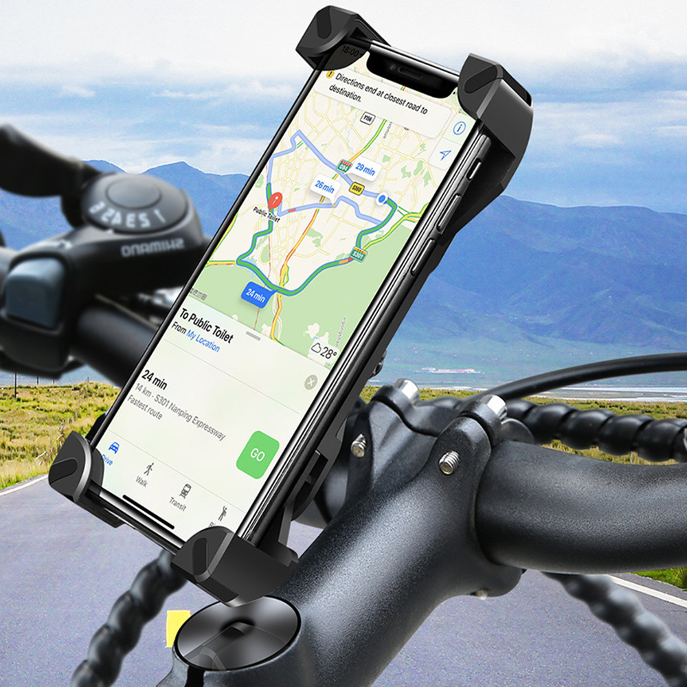 GKYUSHU Bicycle Motorcycle Mobile Phone Stand Fro Samsung Xiaomi Huawei Mobile Phone Accessories Mobile Stand Phone Stand