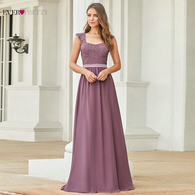Robe Demoiselle D'honneur Elegant A Line Lace Formal Dress For Wedding Party Ever Pretty Burgundy Long Bridesmaid Dresses 2019