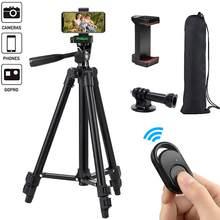 Telefon Stativ 50-zoll/125cm Leichte Stativ mit Telefon Halter & Fernbedienung, stativ für Telefon/GOPRO/Kamera