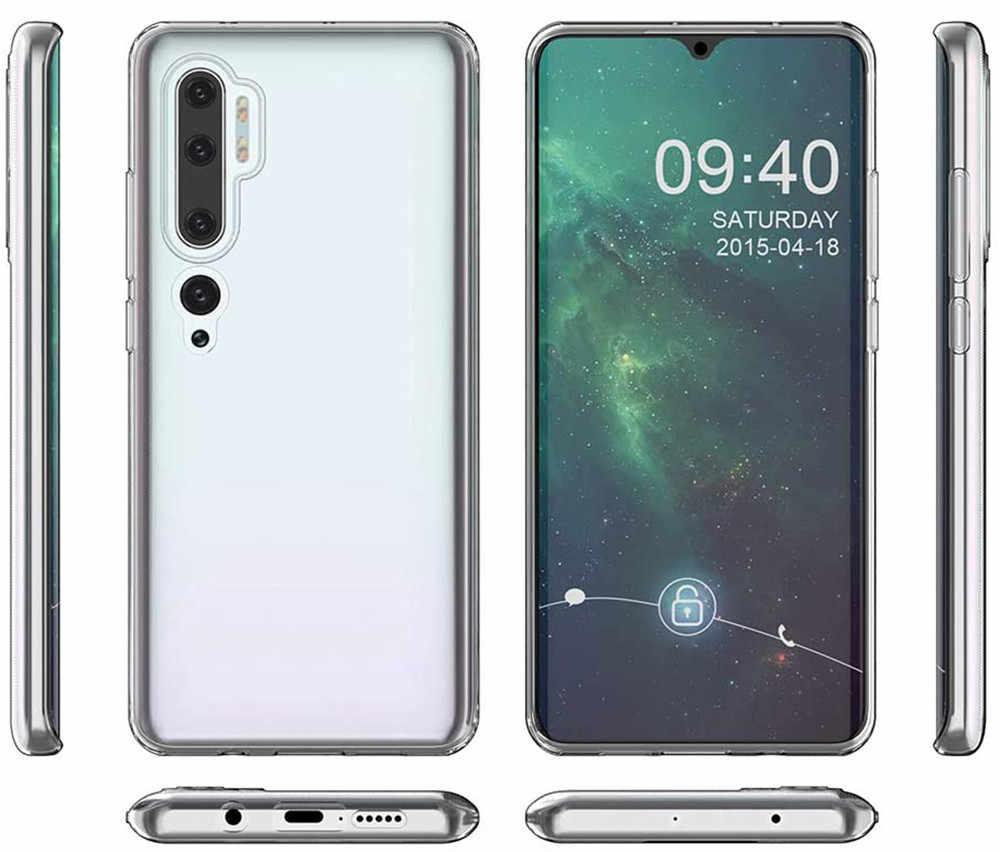 3-in1 ultradunne telefoon-beschermhoes RedMi Note 10 Lite Case Transparante zachte siliconen hoesje+Achterkant film+Hydrogel-film,360 Cover Telefoonaccessoires Xiaomi Mi Note10 10Lite Pro Clear TPU-hoesjes