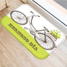 Fahrrad Muster Anti slip Matte Schlafzimmer Dekorative Teppich Küche Boden Wohnzimmer Boden Matte Haushalts Weichen Nicht slip matte Tür Matte