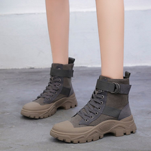 Martin boots women 2019 autumn Korean version of the wild new short boots casual thick ins British wind ladies bare boots