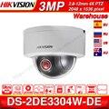 Hikvision Оригинал PTZ камера DS-2DE3304W-DE 3MP IP Сетевая купольная IP камера Камера 4X Оптический зум 2-полосная аудио Поддержка Ezviz удаленного просмотра.