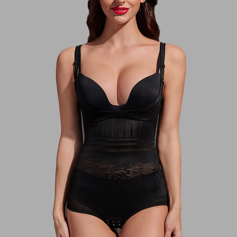 Women Post Natal Postpartum Slimming Underwear Shaper Recover Bodysuits Shapewear Waist Corset Girdle Black/Apricot Dropship