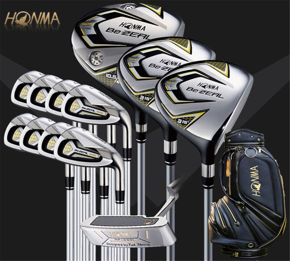 New golf club HONMA BEZEAL 525 full set, golf driver wood putter iron graphite shaft R or S golf club with hood, without bag 1