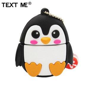 TEXT ME 64GB cute cartoon Penguin owl fox style usb flash drive usb 2.0 4GB 8GB 16GB 32GB vreative pendrive gift