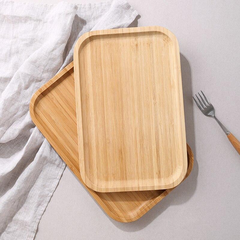 Image 5 - Oneisall bambou plateau à thé tasse assiette alimentaire Dessert  plateau de service traditionnel bambou plateau à thé élégant Style  chinois Table à théThé Plateaux