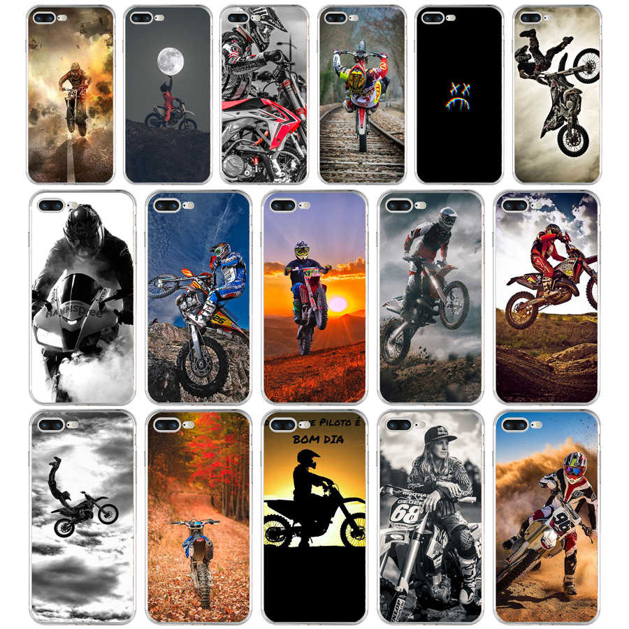 226FG Motocross moto cross dirtbikes Soft TPU Silicone Cover Case For Apple iPhone5 5s se 6 6s 7 8 plus x xr xs max