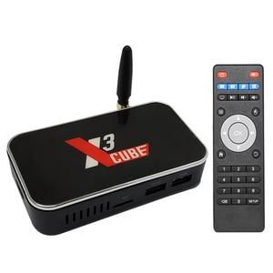 Image 1 - UGOOS Amlogic S905X3 Dispositivo de TV inteligente Android 9,0 X3 Cubo de 2GB 4GB DDR4 16GB 32GB ROM 2,4G 5G WiFi BT 4K HD Media Player X3 PRO