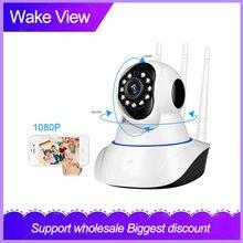 Камера видеонаблюдения wakeview 1080p wi fi hd pan tilt беспроводная