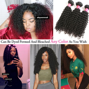 Ali Queen One-Donor Mongolian Afro Kinky Curl P/9A Brazilian Unprocessed Virgin Human Hair Extension Bundle Natural Color Inch(China)