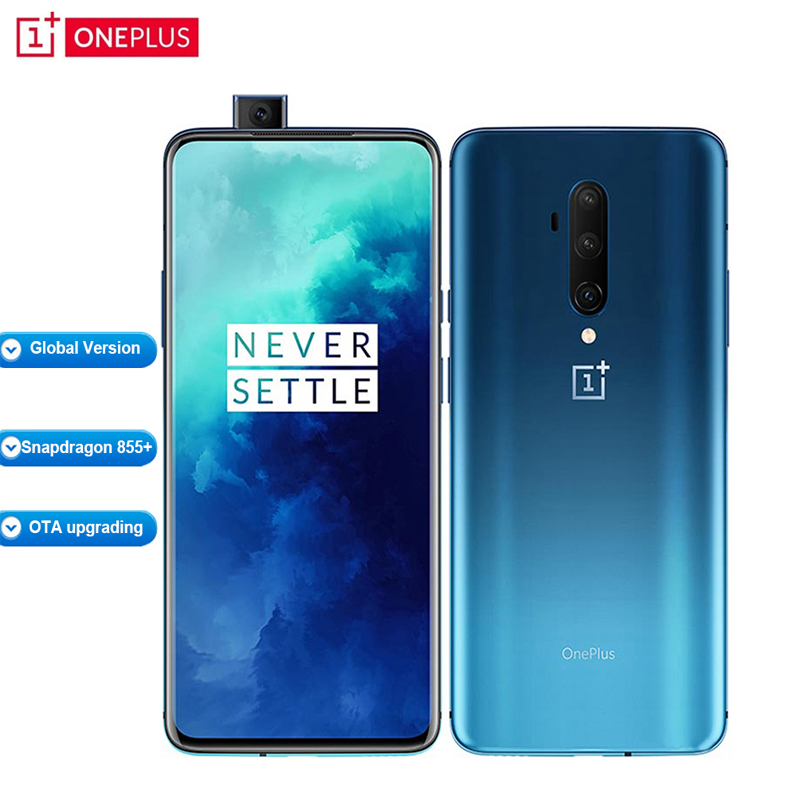 "Global Version Oneplus 7T Pro HD1913 8GB 256GB Mobile Phone 6.67"" Snapdragon 855+ Octa core 48MP 4085mAh 30W 4G Smartphone"