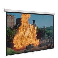 60 дюймов HD 16:9 ручной выдвижной проектор экран самоблокирующийся для домашнего кинотеатра, кинотеатра, игр