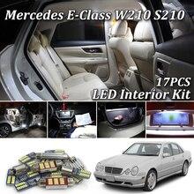 17 шт. SMD лампы белого цвета без ошибок для Mercedes E Class W210 S210 Sedan Wagon AMG полный светодиодный комплект внутреннего освещения 1995-2002