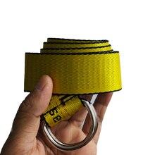 Желтый, Харадзюку, вышивка, холст, буквы, двойное кольцо, пряжка, длинный ремень, женские ремни, для женщин, Роскошные, дизайнерские, брендовые ремни