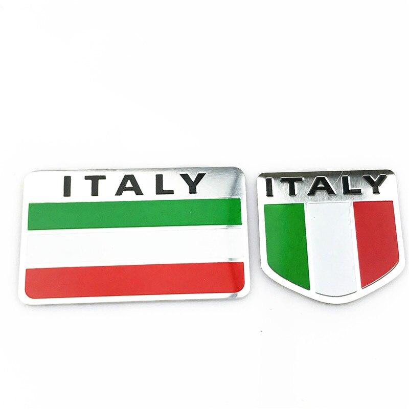 Car Styling 3D Italy Flag Emblem Badge Car Sticker Decals Accessories For  Alfa Romeo 159 147 156 Giulietta Fiat Car-Styling