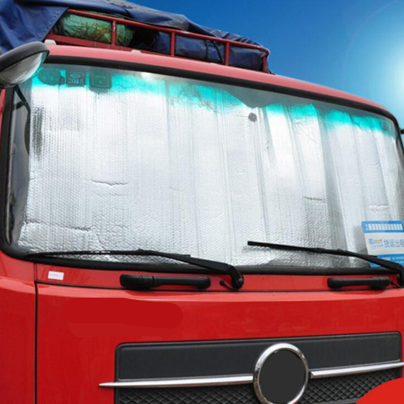Foldable Jumbo Extra Large Sun Shade Truck Van Car Windshield Visor Block Cove