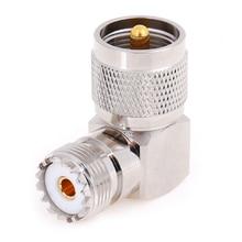 1 шт. UHF SO-239 Женский к UHF PL-259 мужской правый угол 90 градусов RF разъем высокое качество