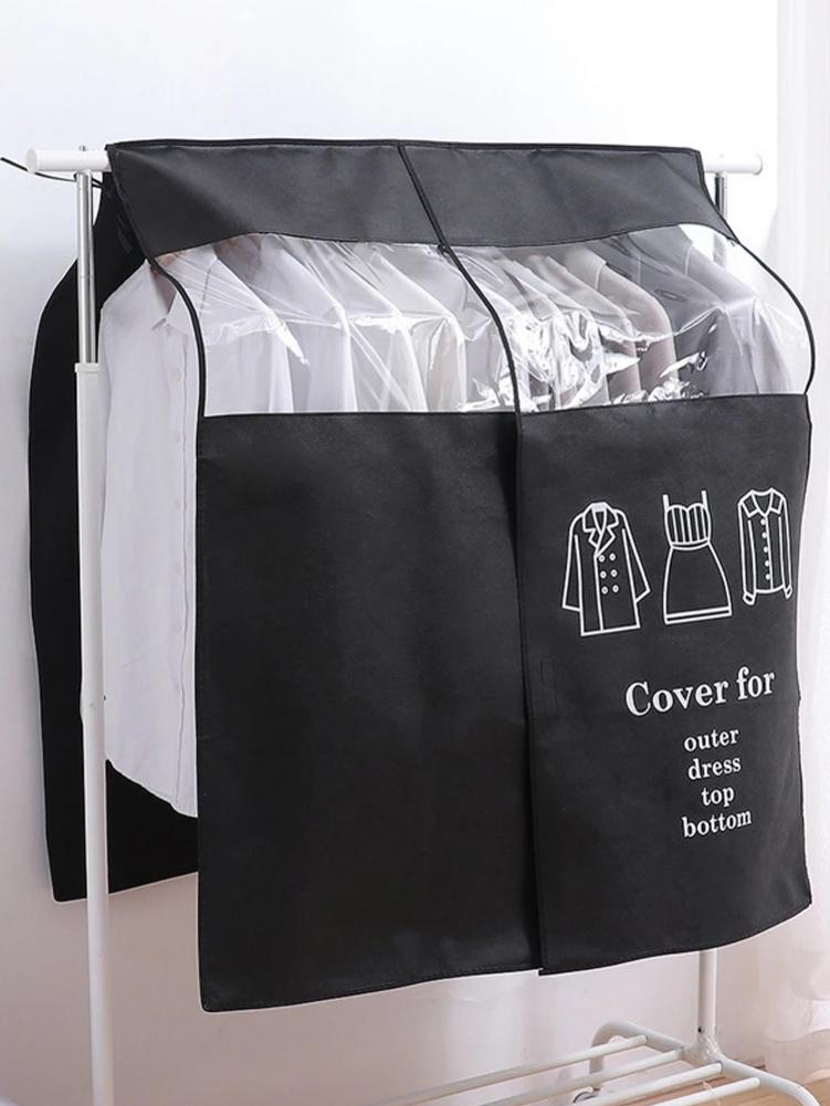 Household Clothing Dust Cover Wardrobe Coat Storage Cover Clothes Suit Coat Dust Cover Hanging-type Suit Protect Organizer Bag