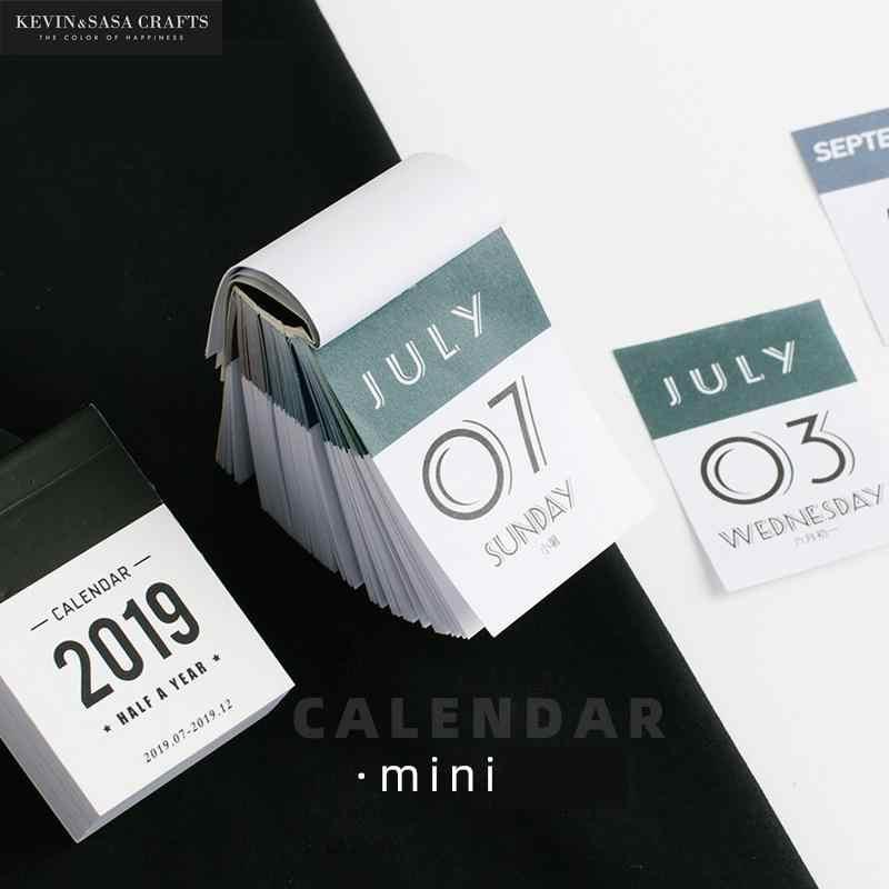 Мини-календарь 2020, мини-календарь 2020, бумажный Органайзер 2020, канцелярские принадлежности, планировщик 2020, настольный органайзер для учебы