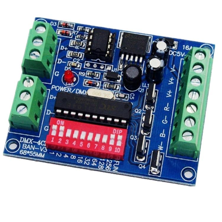 LED DMX512 Constant Pressure Board Yang WS-DMX-4CH-BAN-V3 Galvanostat DC5V-24V Controller
