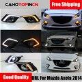 DRL для Mazda 3 Mazda3 Axela 2014 2015 2016 светодиодный ные дневные ходовые огни дневной свет противотуманная лампа с указателем поворота
