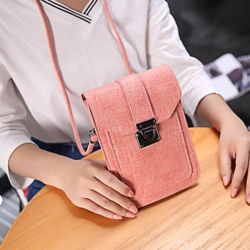 Multipurpose Women Crossbody Bags Mini PU Leather Shoulder Handbag Phone Wallet For Mobile Phone Under 6.3 Inch