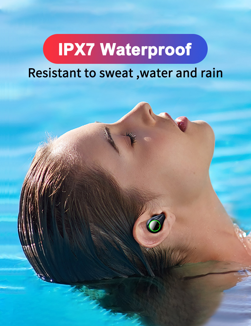 TOMKAS 8000mAh TWS Earphones 9D Stereo Bluetooth 5.0 Wireless Earphones IPX7 Waterproof Headphone LED Display with Mic Touch Key (1)