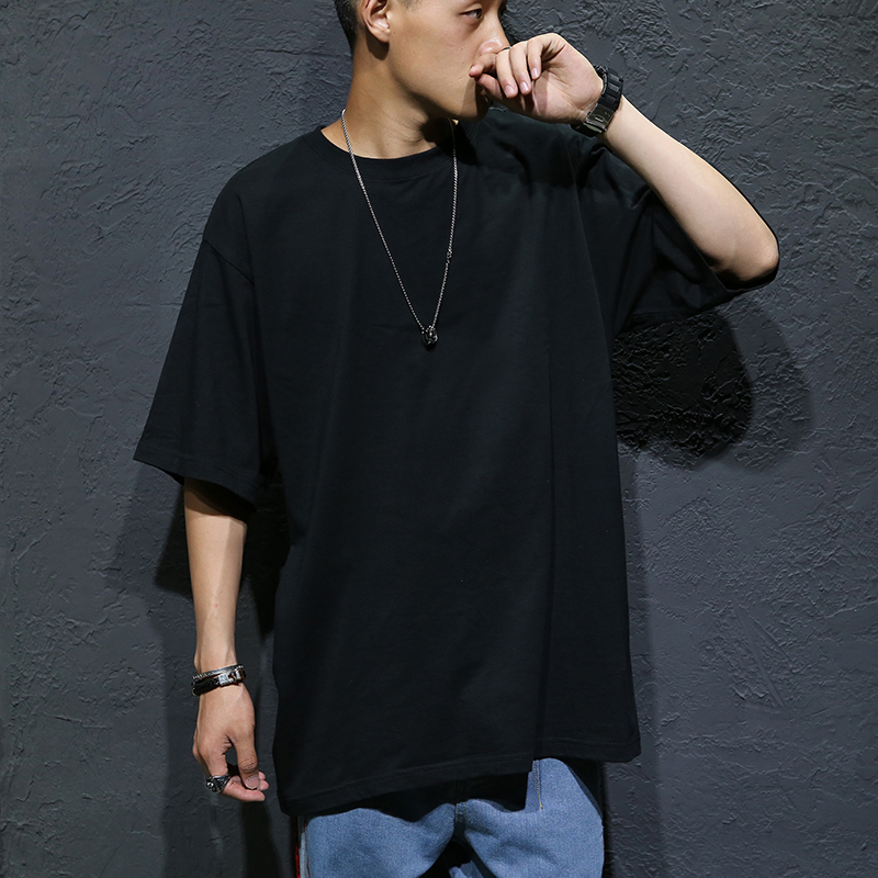 FOR 60-135KG BODY Black White OVERSIZE 2020 MEN'S ROCK Skateboard Hip Hop T Shirt Short Sleeves Streetwear TOPS TEES TSHIRT