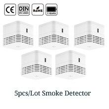 CPVan 5pcs/Lot wireless fire detector EN14604 CE certified 85dB loud alarm smoke 5 yr