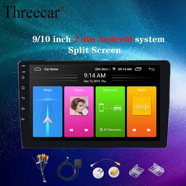 2din Car Radio Android 8 Universal GPS Navigation Bluetooth 2.5D Touch Split Screen Wifi Car Audio Stereo FM USB Car Multimedia