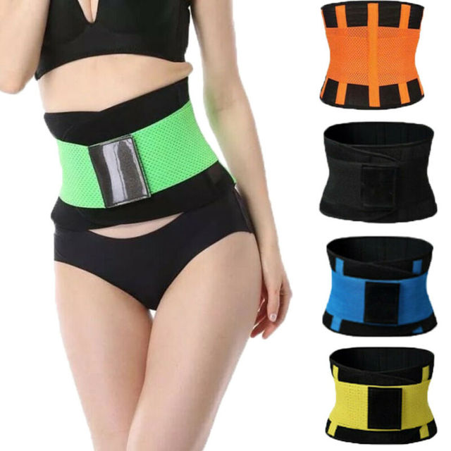 Women Men Unisex Adjustable Elstiac Waist Support Belt Neoprene Faja Lumbar Back Sweat Belt Fitness Belt Waist Trainer 4